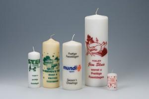 Bedrukte kaarsen als relatiegeschenk