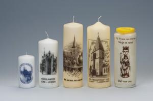 Bedrukte kerk kaarsen